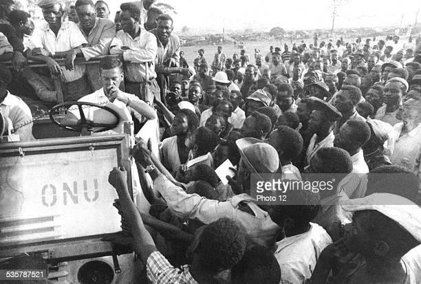 UNO's refugee's camp in Elisabethville June 1962 Congo
