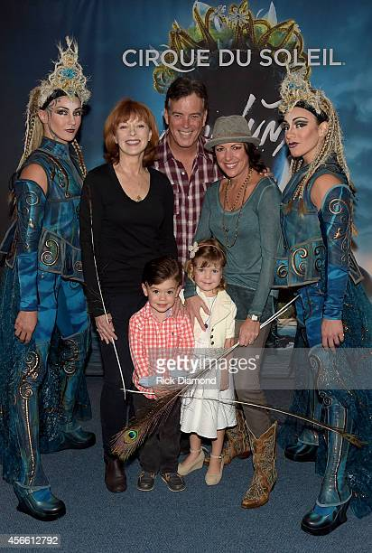 ABC's Resurrection cast member Frances Fisher Fox News Channel's John Roberts with HLN Anchor Kyra Phillips and family attends Amaluna opening night...
