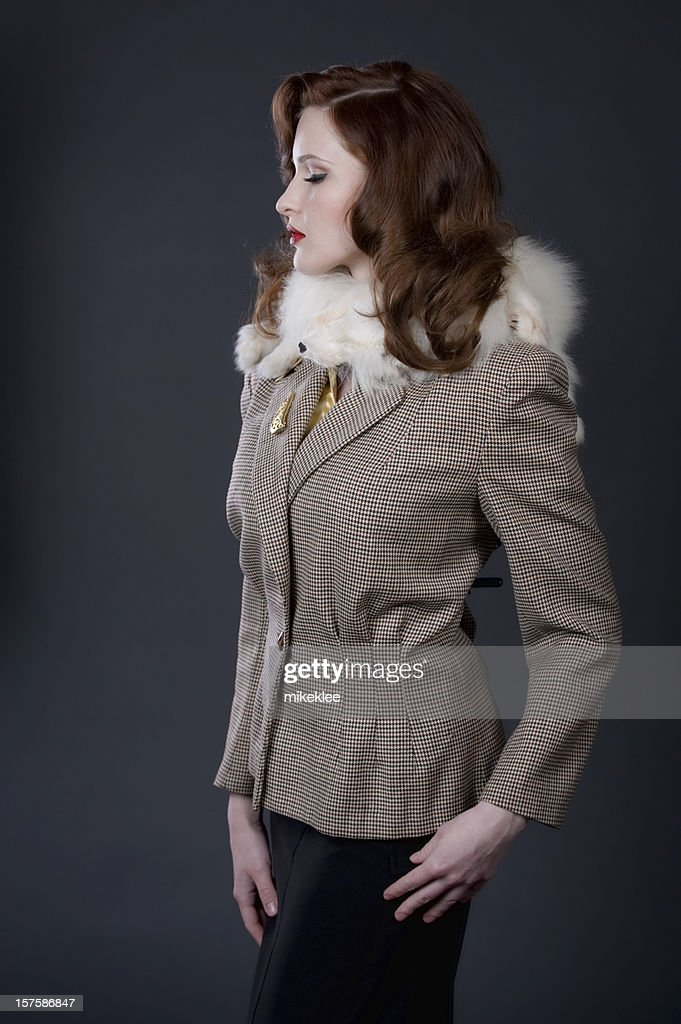 1940's retro fashion : Stock Photo