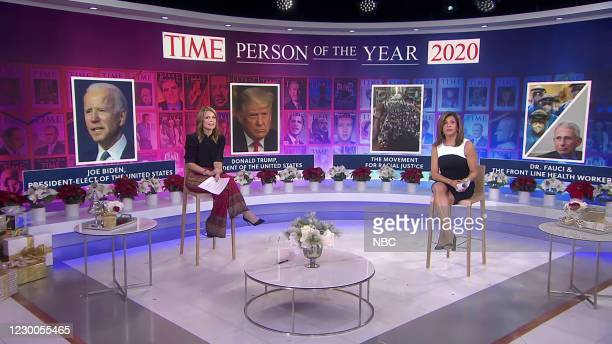 S reveal of the Time's Person of the Year 2020 Finalists -- Pictured: Savannah Guthrie, Hoda Kotb --