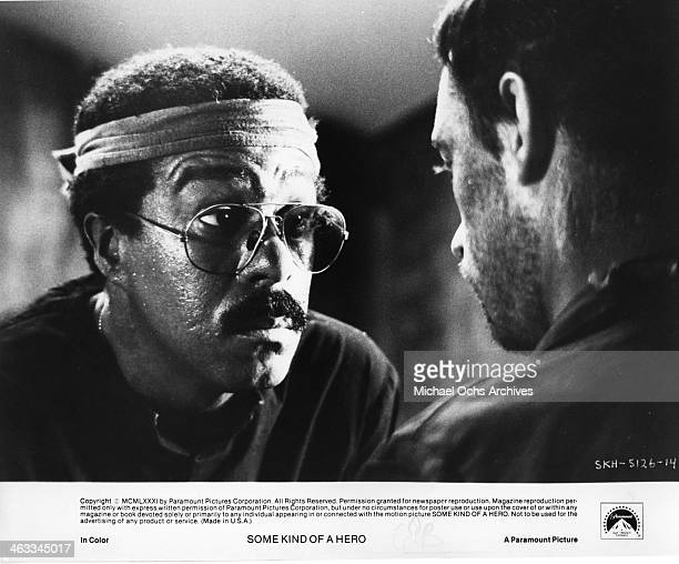 W's Richard Pryor and Ray Sharkey are cellmates in Vietnam who become fast friends in a scene from the movie Some Kind Of Hero which was releaseed on...