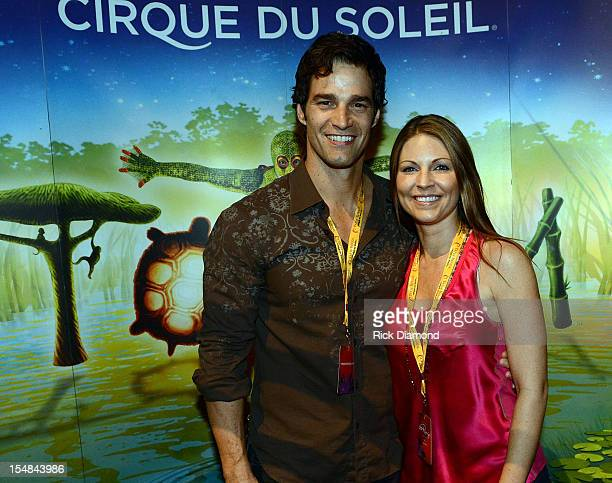 CNN's Rob Marciano and Eryn Marciano attend Cirque du Soleil TOTEM Premiere at Atlantic Station on October 26 2012 in Atlanta Georgia