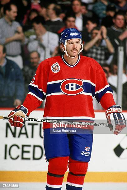 BOSTON MA 1990's Rob Ramage of the Montreal Canadiens plays against the Boston Bruins