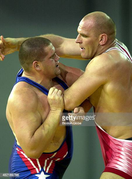 USA's Rulon Gardner left faced off with Russia's Alexander Karelin who was heavily favored to win the gold but the American provided an upset in the...