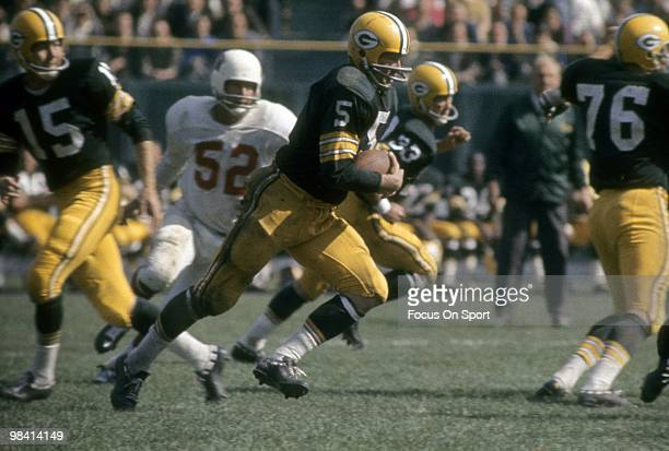 BAY WISCONSIN CIRCA 1960's running back Paul Hornung of the Green Bay Packers carries the ball against the St Louis Cardinals circa early 1960's...