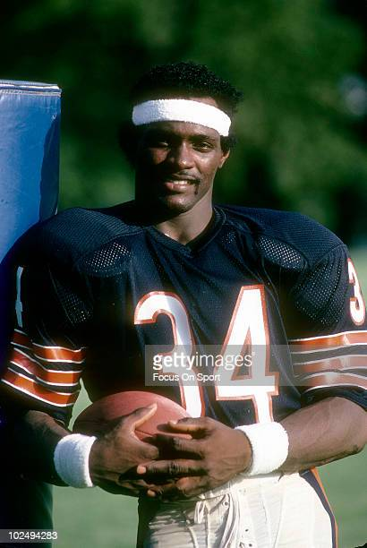 CHICAGO IL CIRCA 1970's Running back Walter Payton of the Chicago Bears looks on circa late 1970's in Chicago Illinois Payton played for the Bears...