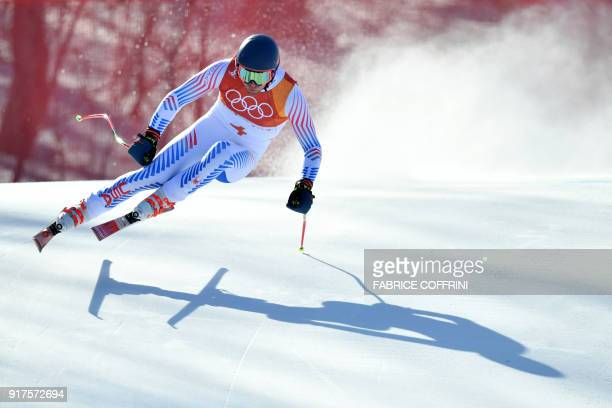 S Ryan Cochran-Siegle competes in the Men's Alpine Combined Downhill at the Jeongseon Alpine Center during the Pyeongchang 2018 Winter Olympic Games...