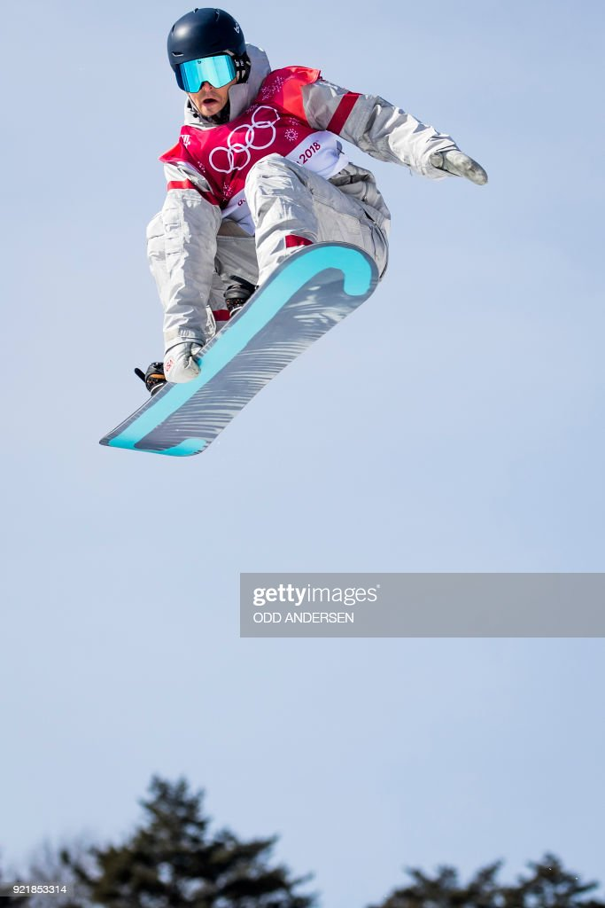 USA's Ryan Stassel competes during the qualification of the men's snowboard big air event at the Alpensia Ski Jumping Centre during the Pyeongchang 2018 Winter Olympic Games in Pyeongchang on February 21, 2018. / AFP PHOTO / Odd ANDERSEN