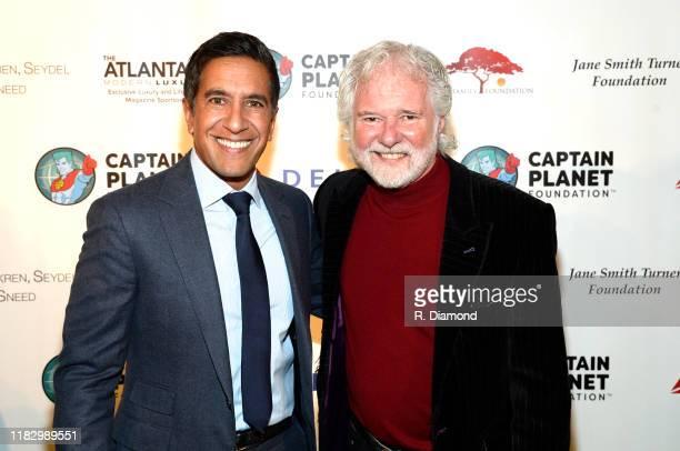 CNN's Sanjay Gupta and honoree Chuck Leavell attend 2019 Captain Planet Foundation Gala at Flourish Atlanta on November 16 2019 in Atlanta Georgia