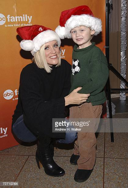 ABC's Santa Baby's Jenny McCarthy and her son Evan Asher attend the ABC Family 25 Days Of Christmas Winter Wonderland Event December 3 2006 in New...