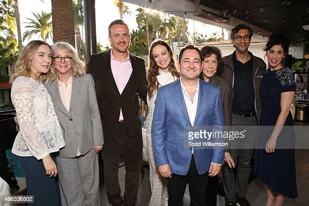S Scott Feinber with actors Saoirse Ronan, Blythe Danner, Jason Segel, Olivia Wilde, Lily Tomlin, writer Ramin Bahrani and actress Sarah Silverman...