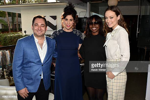THR's Scott Feinberg actress Sarah Silverman AFI FEST Director Jacqueline Lyanga and actress Olivia Wilde attend the photo call for 'Indie Contenders...