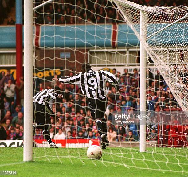 UNITED's SECOND GOAL DURING THE ASTON VILLA V NEWCASTLE UNITED FA PREMIERSHIP MATCH AT VILLA PARK Mandatory Credit Allsport