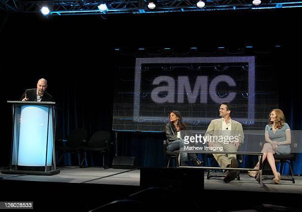 AMC's Senior Vice President of Original Programming Production and Digital Content Joel Stillerman executive producer Veena Sud actor Billy Campbell...