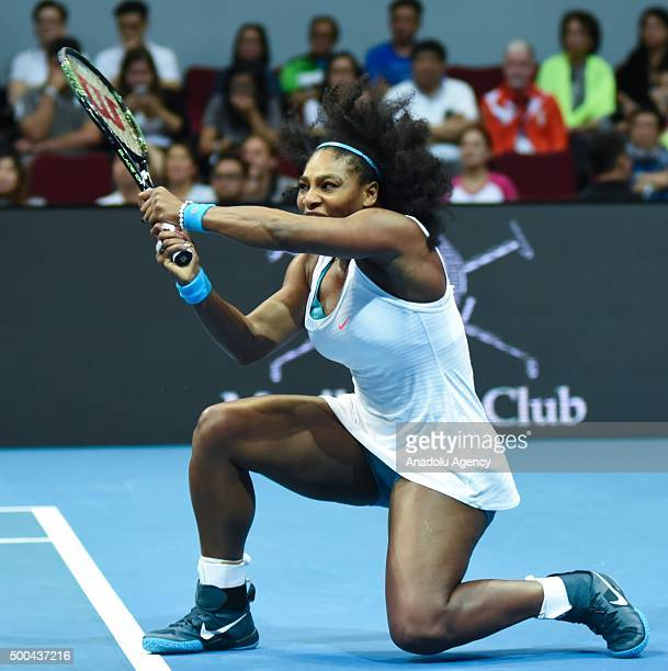 USA's Serena Williams of the Philippine Mavericks in action against Australia's Samantha Stosur of the Indian Aces during the women's singles in the...