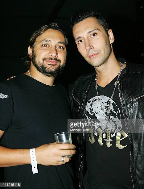 DJ's Sharam Tayebi and Cedric Gervais performs at the Nocturnal Wonderland Music Festival in Downtown Los Angeles on September 29 2007 in Los Angeles...