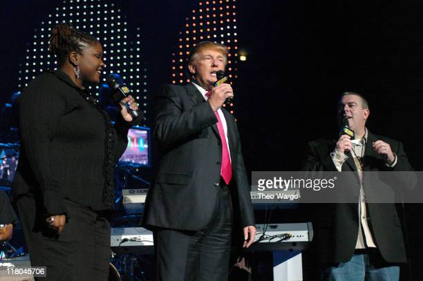 Z100's Shelly Wade Donald Trump and Z100's Elvis Duran