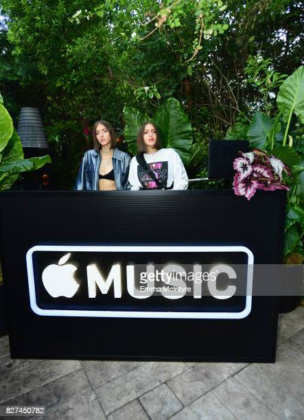 DJ's Simihaze at Apple Music Launch Party Carpool Karaoke The Series with James Corden on August 7 2017 in West Hollywood California