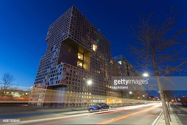 mit's simmons hall - massachusetts institute of technology stock pictures, royalty-free photos & images