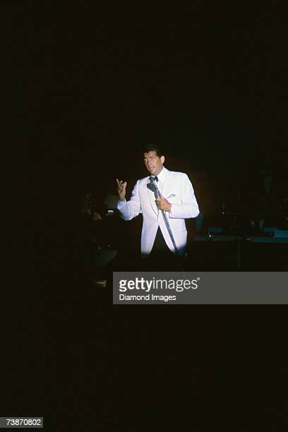 LAS VEGAS 1950's Singer Dean Martin performs on stage during the late 1950's in Las Vegas Nevada
