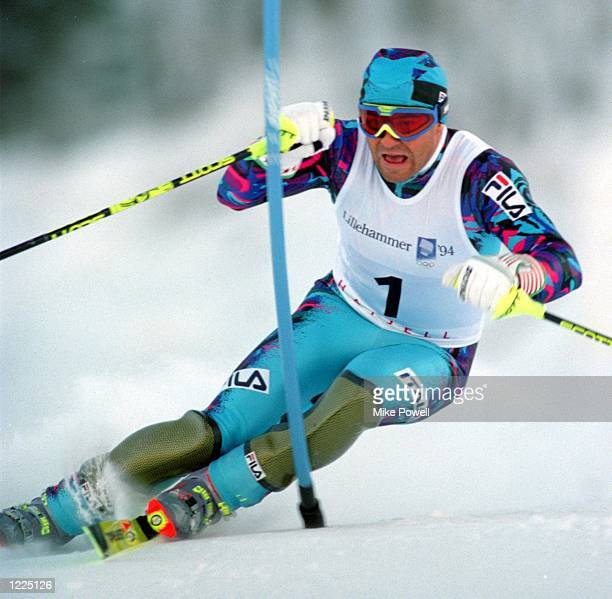 MEN's SLALOM AT THE1994 WINTER OLYMPICS TOMBA FINISHED IN 2ND PLACE TAKING THE SILVER MEDAL Mandatory Credit Mike Powell/ALLSPORT