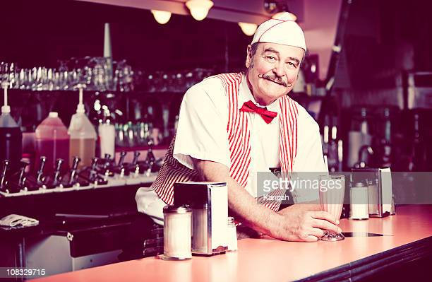 1950's soda shop - vintage restaurant stock pictures, royalty-free photos & images