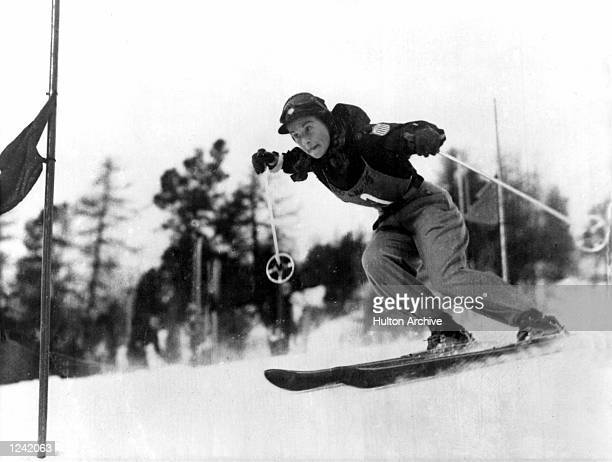 THE WINNER OF THE WOMEN's SPECIAL SLALOM AT THE WINTER OLYMPICS AT ST MORITZ Mandatory Credit Allsport Hulton/Archive