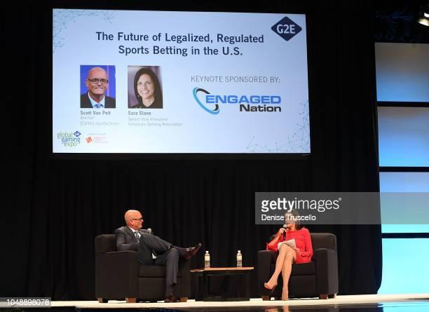 ESPN's SportsCenter anchor Scott Van Pelt and Senior Vice President of American Gaming Association Sara Slane discuss the future of sports betting...