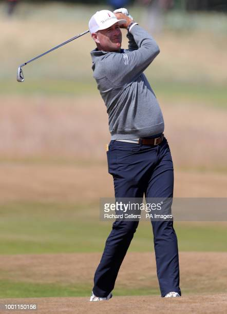 USA's Stewart Cink during preview day four of The Open Championship 2018 at Carnoustie Golf Links Angus