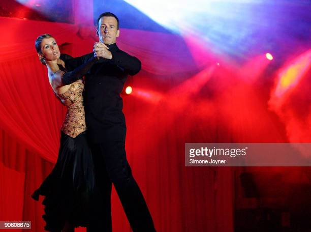 BBC's Strictly Come Dancing stars Anton Du Beke and Erin Broag perform live on stage during Sadler's Wells A Gala Evening of Dance at Tower of London...