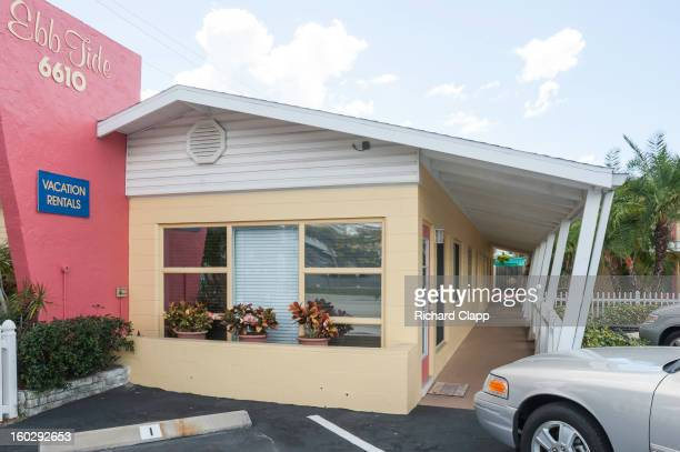 S style modern motel on Siesta Key. This is a beach town in Sarasota, FL on the Gulf of Mexico. Siesta Key was rated as the No. 1 beach in th world...