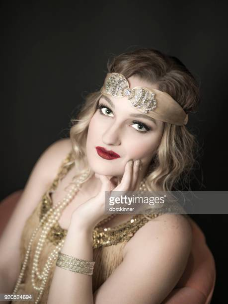 1920's style - flapper stock photos and pictures