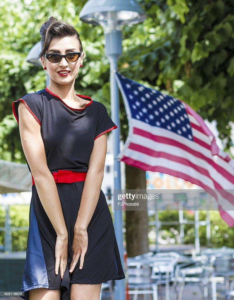 1950's Style - Portrait of beautiful american woman : Stock Photo