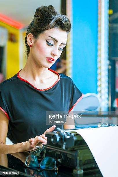 50's Style - Portrait of beautiful businesswoman