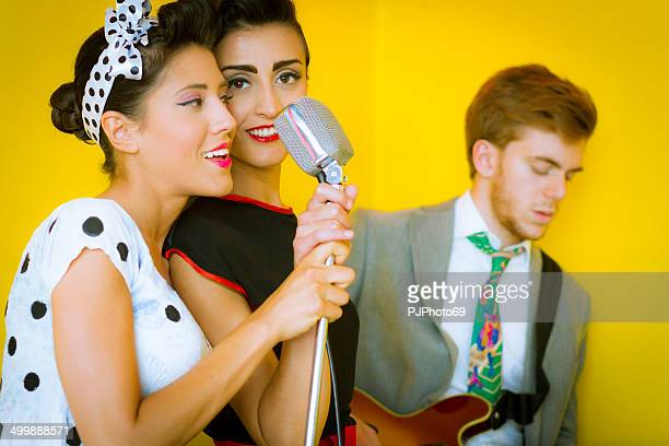 1950's Style - Two swing singers and guitarist