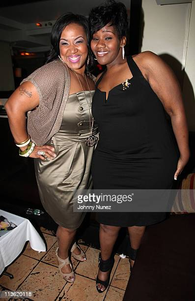 BET's 'Sunday's Best' season two Winner Y'Anna Crawley and recording artist Kelly Price attend Kelly Price's album listening celebration at Fashion...