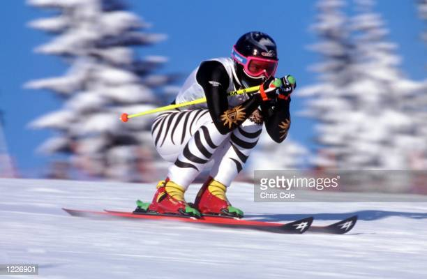 WOMEN's SUPER GIANT SLALOM AT THE 1994 LILLEHAMMER WINTER OLYMPICS Mandatory Credit Chris Cole/ALLSPORT