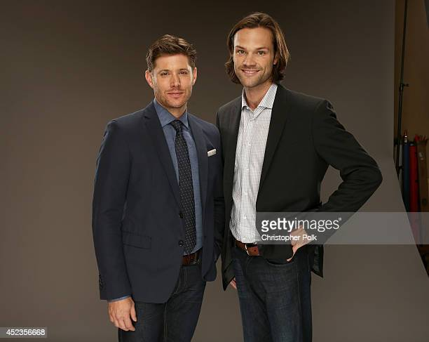 CW's 'Supernatural' actors Jensen Ackles and Jared Padalecki pose for a portrait during the CW and Showtime's 2014 Summer TCA Tour at The Beverly...