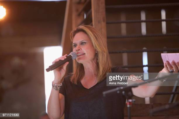 GAC's Suzanne Alexander speaks onstage in the HGTV Lodge at CMA Music Fest on June 10 2018 in Nashville Tennessee