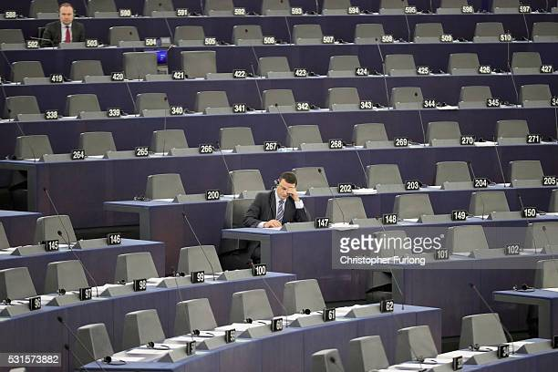 MEP's take part in a debate in the European Parliament on May 12 2016 in Strasbourg France The United Kingdom will hold a referendum on June 23 2016...