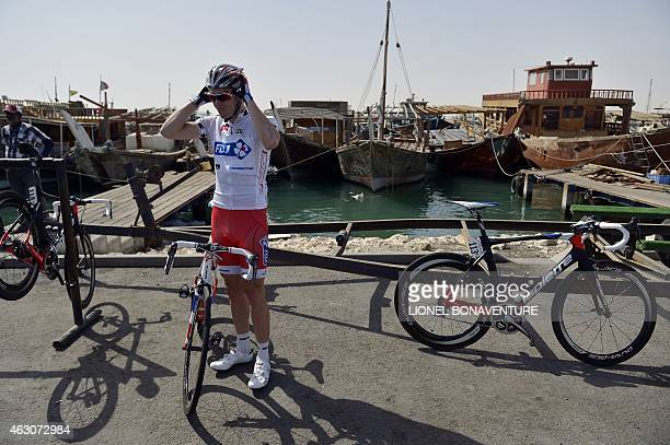FDJ's team leader Arnaud Demare is pictured before the second stage of the 2015 Tour of Qatar from Al Wakra to Al Khor Corniche on February 9 2015...