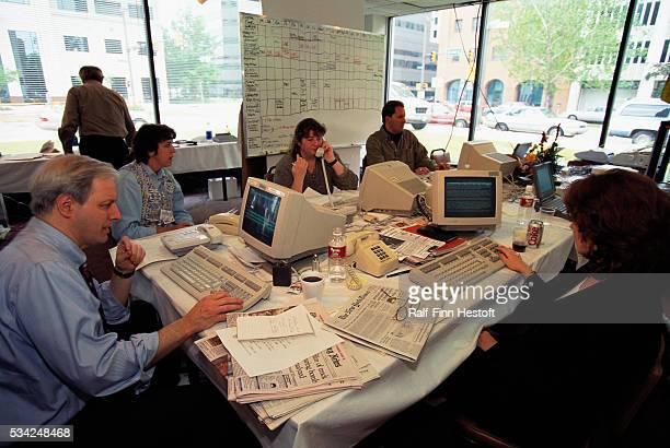 CNN's temporary base of operations in Oklahoma City following the Oklahoma City bombing