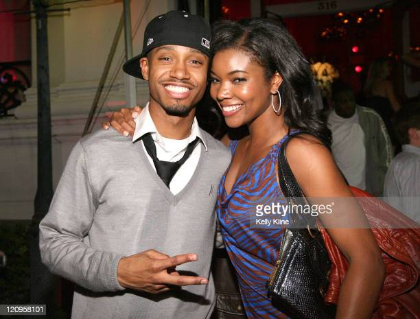 BET's Terrence J and actress Gabrielle Union at the Jordan Brand House of 23 event celebrating the launch of Air Jordan 23 during AllStar weekend in...