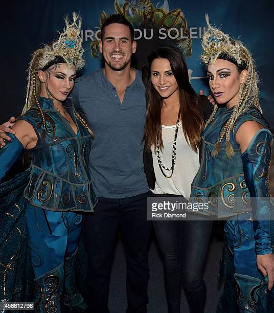 "S ""The Bachelorette"" Andi Dorfman and fiancee Josh Murray attend Amaluna opening night at the Big Top at Atlantic Station on October 3, 2014 in..."