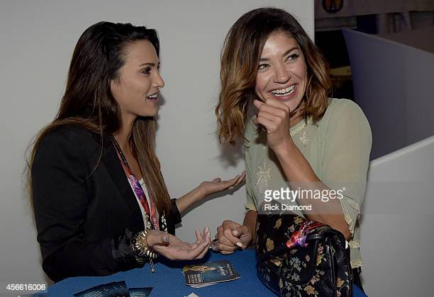 ABC's The Bachelorette Andi Dorfman and USA's Complications cast member Jessica Szohr attend Amaluna opening night at the Big Top at Atlantic Station...
