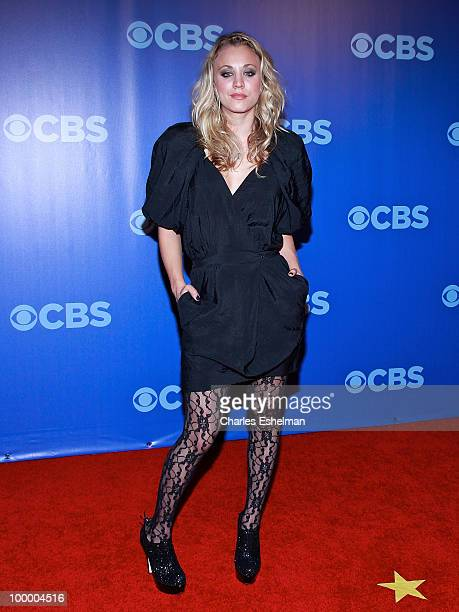 CBS's The Big Bang Theory actress Kaley Cuoco attends the 2010 CBS UpFront at Damrosch Park Lincoln Center on May 19 2010 in New York City