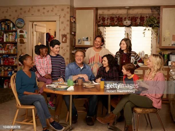 THE CONNERS ABC's 'The Conners' stars Maya Lynne Robinson as Geena WilliamsConner Jayden Rey as Mary Michael Fishman as DJ Conner John Goodman as Dan...