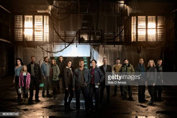 THE CROSSING ABC's 'The Crossing' stars Simone Kessell as Rebecca Bailey Skodje as Leah Marcuis Harris as Caleb Luke Camilleri as Thomas Kelley...