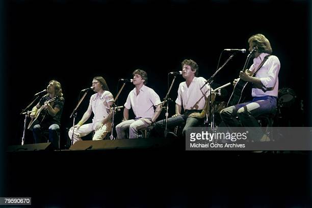 LOS ANGELES LATE 1970's The Eagles Perform in the late 1970's in Los Angeles California