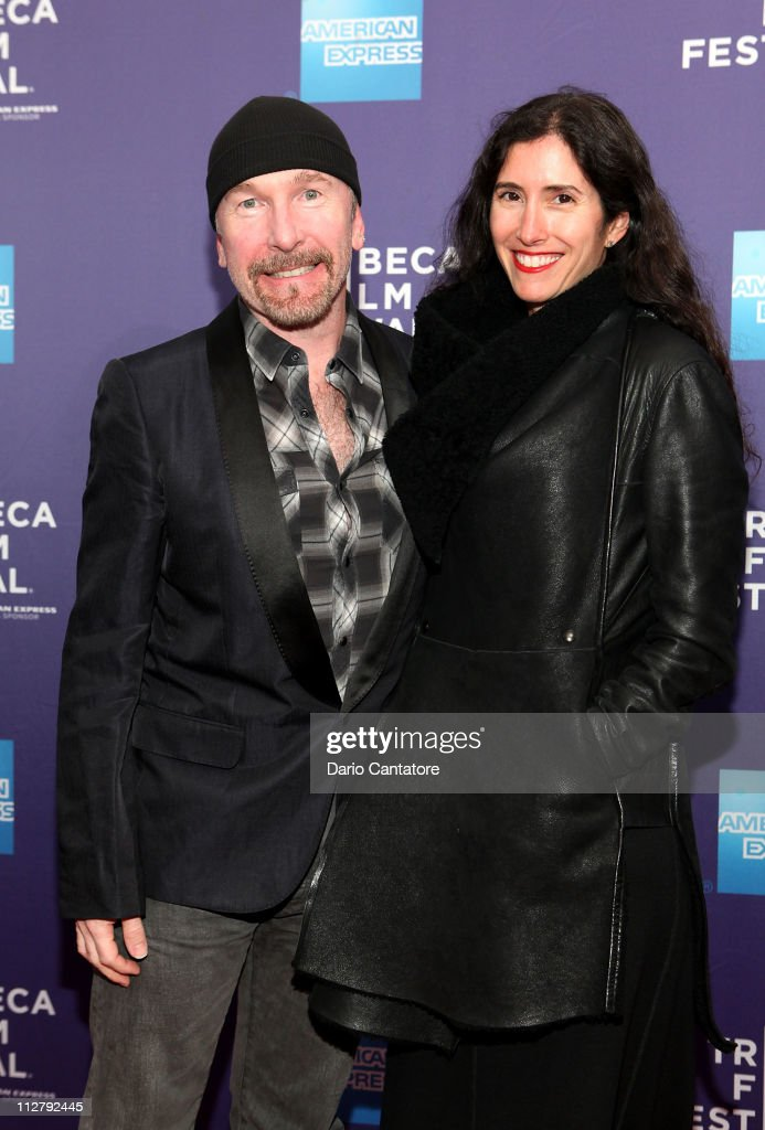 U2's The Edge (L) attends the premiere of 'Lotus Eaters' during the 2011 Tribeca Film Festival at SVA Theater on April 21, 2011 in New York City.